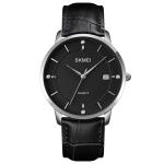 SKMEI 1801 Men Casual Calendar Quartz Watch(Silver Black)