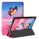 Silk Texture Colored Drawing Pattern Horizontal Flip Magnetic PU Leather Case with Three-folding Holder & Sleep / Wake-up Function For iPad 9.7 2018 / 2017 / Air / Air 2(Galaxy Butterfly)
