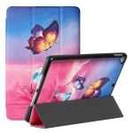 Silk Texture Colored Drawing Pattern Horizontal Flip Magnetic PU Leather Case with Three-folding Holder & Sleep / Wake-up Function For iPad Pro10.5 2017/Air 10.5 2019/10.2 2019 /10.2 2020(Galaxy Butterfly)