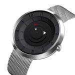 SKMEI 9174 Compass Style Round Digital Dial Quartz Watch for Men(Silver)