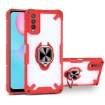 Matte TPU + PC Magnetic Shockproof Case with Ring Holder For vivo Y12s(Red)