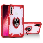 Matte TPU + PC Magnetic Shockproof Case with Ring Holder For Xiaomi Redmi Note 8(Red)