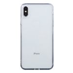 Transparent Stepless Fine Hole Glass Protective Case For iPhone X / XS