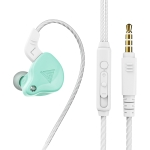 QKZ AK6-X 3.5mm In-Ear Wired Subwoofer Sports Earphone with Microphone, Cable Length: About 1.2m(Apple Green)