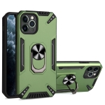 PC + TPU Protective Case with 360 Degrees Rotatable Ring Holder For iPhone 11 Pro Max(Dark Green)