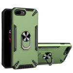 PC + TPU Protective Case with 360 Degrees Rotatable Ring Holder For iPhone 8 Plus & 7 Plus(Dark Green)
