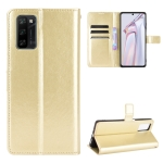 For Blackview A100 Crazy Horse Texture Horizontal Flip Leather Case with Holder & Card Slots & Lanyard(Gold)
