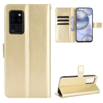 For Oukitel C21 Crazy Horse Texture Horizontal Flip Leather Case with Holder & Card Slots & Lanyard(Gold)