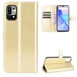 For Umidigi Power 5 Crazy Horse Texture Horizontal Flip Leather Case with Holder & Card Slots & Lanyard(Gold)