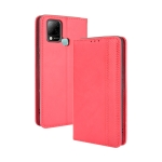 For Infinix Hot 10s / 10s NFC / 10T Magnetic Buckle Retro Crazy Horse Texture Horizontal Flip Leather Case with Holder & Card Slots & Photo Frame(Red)