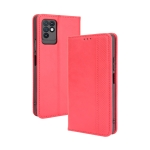 For Infinix Note 10 Magnetic Buckle Retro Crazy Horse Texture Horizontal Flip Leather Case with Holder & Card Slots & Photo Frame(Red)