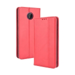 For Nokia C10 / C20 Magnetic Buckle Retro Crazy Horse Texture Horizontal Flip Leather Case with Holder & Card Slots & Photo Frame(Red)