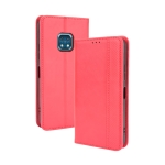 For Nokia XR20 Magnetic Buckle Retro Crazy Horse Texture Horizontal Flip Leather Case with Holder & Card Slots & Photo Frame(Red)
