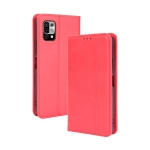 For Umidigi Power 5 Magnetic Buckle Retro Crazy Horse Texture Horizontal Flip Leather Case with Holder & Card Slots & Photo Frame(Red)