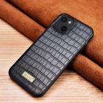 SULADA Crocodile Texture TPU Protective Case For iPhone 13(Black)