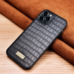 SULADA Crocodile Texture TPU Protective Case For iPhone 13 Pro(Black)