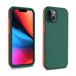 Dual-color 360 Degrees Full Coverage Protective PC + TPU Shockproof Case For iPhone 13(Dark Green)
