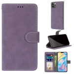 Retro Frosted Horizontal Flip PU Leather Case with Holder & Card Slots & Wallet & Photo Frame For iPhone 13 Pro Max(Purple)