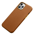R-JUST Shockproof Magnetic Cowhide Leather Magsafe Case For iPhone 13(Brown)