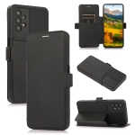 Push Window Double Buckle PU + Silicone Horizontal Flip Leather Case with Holder & Card Slot For Samsung Galaxy A32(Black)