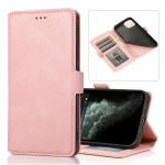 Retro Magnetic Closing Clasp Horizontal Flip Leather Case with Holder & Card Slots & Photo Frame & Wallet For iPhone 13 Pro(Rose Gold)