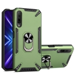 For Honor 9X / 9X Pro PC + TPU Protective Case with 360 Degrees Rotatable Ring Holder(Dark Green)