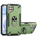 For Huawei nova 6 SE PC + TPU Protective Case with 360 Degrees Rotatable Ring Holder(Dark Green)