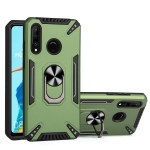 For Huawei P30 lite PC + TPU Protective Case with 360 Degrees Rotatable Ring Holder(Dark Green)