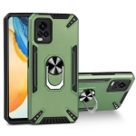 For vivo V20 PC + TPU Protective Case with 360 Degrees Rotatable Ring Holder(Dark Green)