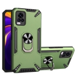 For vivo V20 Pro PC + TPU Protective Case with 360 Degrees Rotatable Ring Holder(Dark Green)