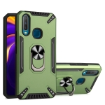 For vivo Y11 / Y12 / Y15 / Y17 PC + TPU Protective Case with 360 Degrees Rotatable Ring Holder(Dark Green)