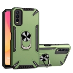 For vivo Y20 PC + TPU Protective Case with 360 Degrees Rotatable Ring Holder(Dark Green)