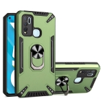 For vivo Y50 PC + TPU Protective Case with 360 Degrees Rotatable Ring Holder(Dark Green)