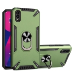 For vivo Y93 PC + TPU Protective Case with 360 Degrees Rotatable Ring Holder(Dark Green)