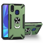 For vivo Y95 / U1 PC + TPU Protective Case with 360 Degrees Rotatable Ring Holder(Dark Green)