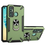 For Tecno Camon 17 PC + TPU Protective Case with 360 Degrees Rotatable Ring Holder(Dark Green)