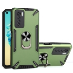 For Tecno Camon 17 Pro PC + TPU Protective Case with 360 Degrees Rotatable Ring Holder(Dark Green)