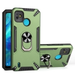 For Tecno Pop 5 PC + TPU Protective Case with 360 Degrees Rotatable Ring Holder(Dark Green)