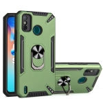 For Tecno Spark 6 Go PC + TPU Protective Case with 360 Degrees Rotatable Ring Holder(Dark Green)