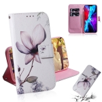 Coloured Drawing Horizontal Flip Leather Case, with Holder & Card Slots & Wallet For iPhone 13(Magnolia Flower)