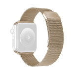 Double Section Milanese Magnetic Elasticity Replacement Strap Watchband For Apple Watch Series 6 & SE & 5 & 4 40mm / 3 & 2 & 1 38mm(Vintage Gold)