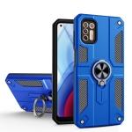 For Motorola Moto G Stylus (2021) Carbon Fiber Pattern PC + TPU Protective Case with Ring Holder(Dark Blue)