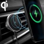 12PRO 15W Aluminum Alloy MagSafe Magnetic Car Wireless Charger Mobile Phone Holder for iPhone 12 Series(Silver)