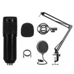 BM-828 Back-pole Diaphragm USB Condenser Microphone Cantilever Bracket Set (Black)