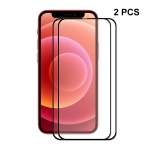 2 PCS ENKAY Hat-Prince Full Glue 0.26mm 9H 2.5D Tempered Glass Screen Protector Full Coverage Film For iPhone 13 / 13 Pro