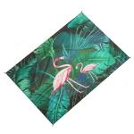 Outdoor Color Beach Mat Waterproof Picnic Mat, Size:1.4×1.5m(Flamingo)