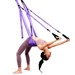 Home Yoga Stretch Band Backbend Handstand Training Rope With Cushion, Specification: With Drawstring Purple