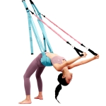 Home Yoga Stretch Band Backbend Handstand Training Rope With Cushion, Specification: With Drawstring Blue