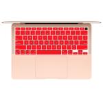 10 PCS Laptop Dust-Proof Waterproof Keyboard Film For MacBook Air 13.3 Inch A2337 2020 US Version (Grapefruit Red)