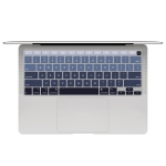 10 PCS Laptop Dust-Proof Waterproof Keyboard Film For MacBook Air 13.3 Inch A2337 2020 US Version (Gradient Gray)